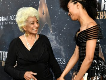 Mandatory Credit: Photo by Rob Latour/REX/Shutterstock (9067296bb) Nichelle Nichols and Sonequa Martin-Green 'Star Trek: Discovery' TV show premiere, Arrivals, Los Angeles, USA - 19 Sep 2017
